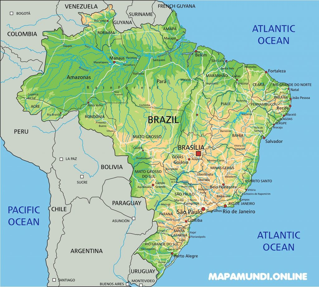 mapa de brasil con nombres para imprimir