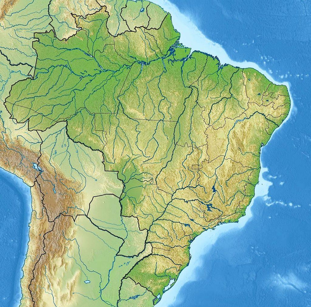 mapa grande brasil fisico relieve