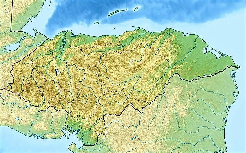 mapa honduras fisico