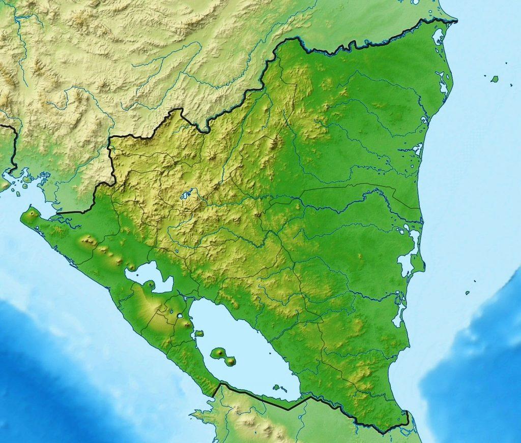 mapa fisico nicaragua