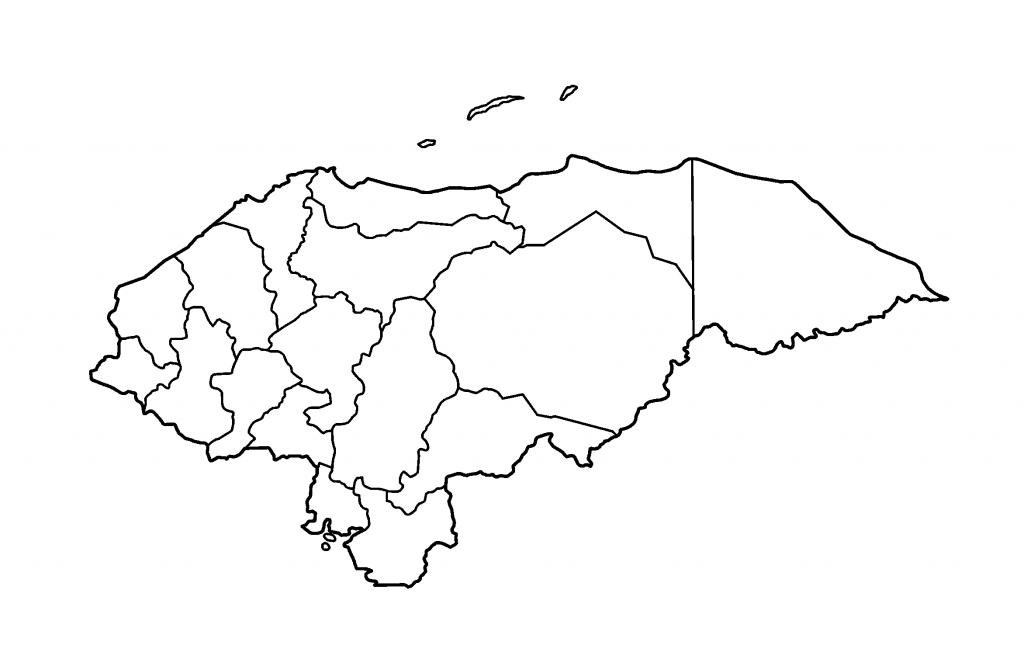 mapa honduras colorear