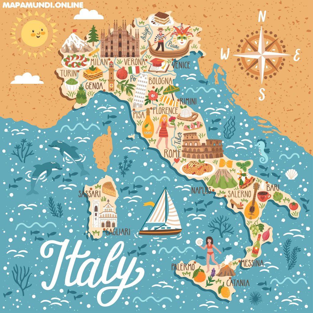 mapa italia para niños infantil