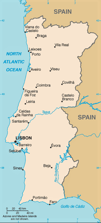 mapa portugal nombres