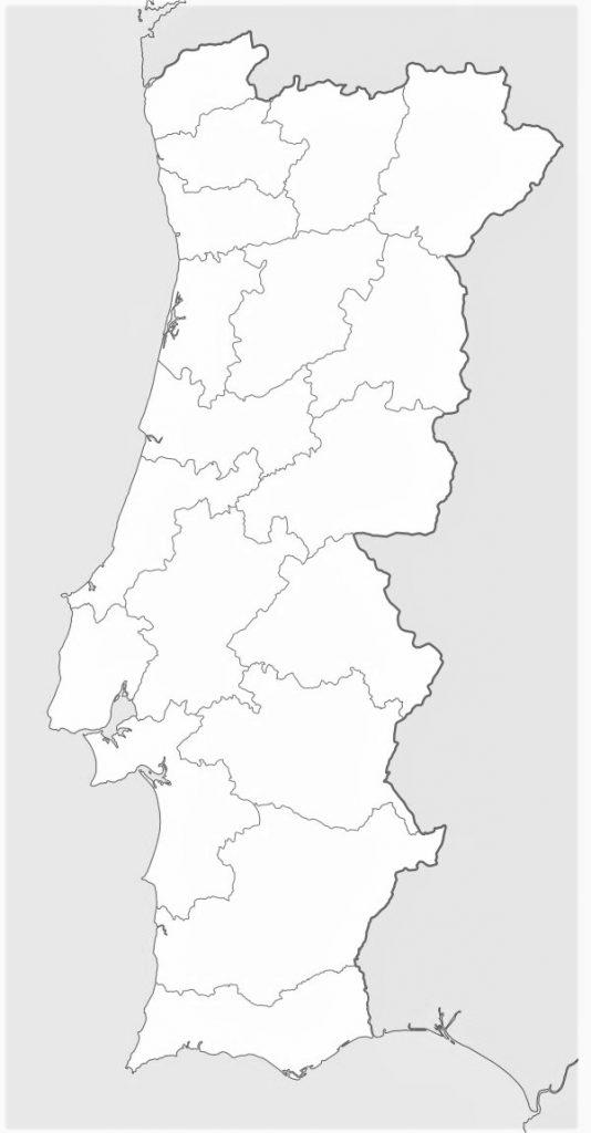 mapa mudo blanco portugal para imprimir