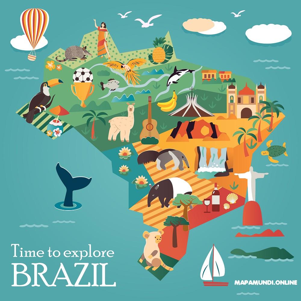 mapa viajero brasil turistico