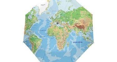 paraguas mapa mundi