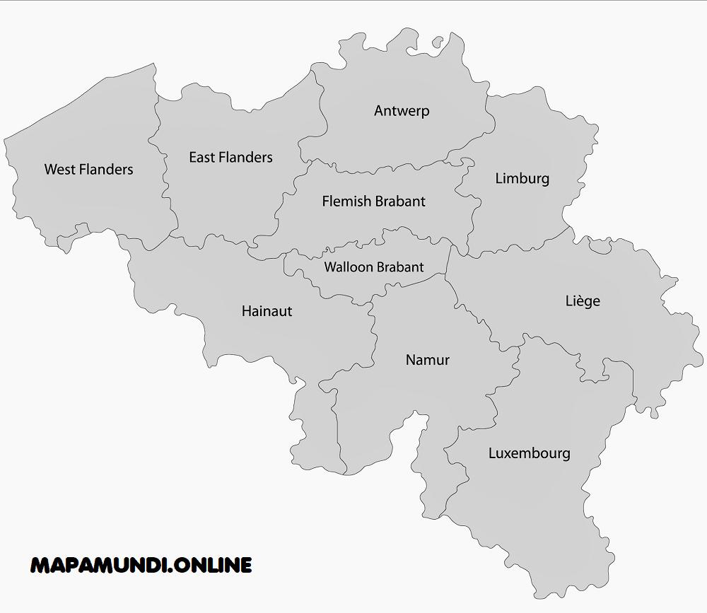belgica regiones division provincias