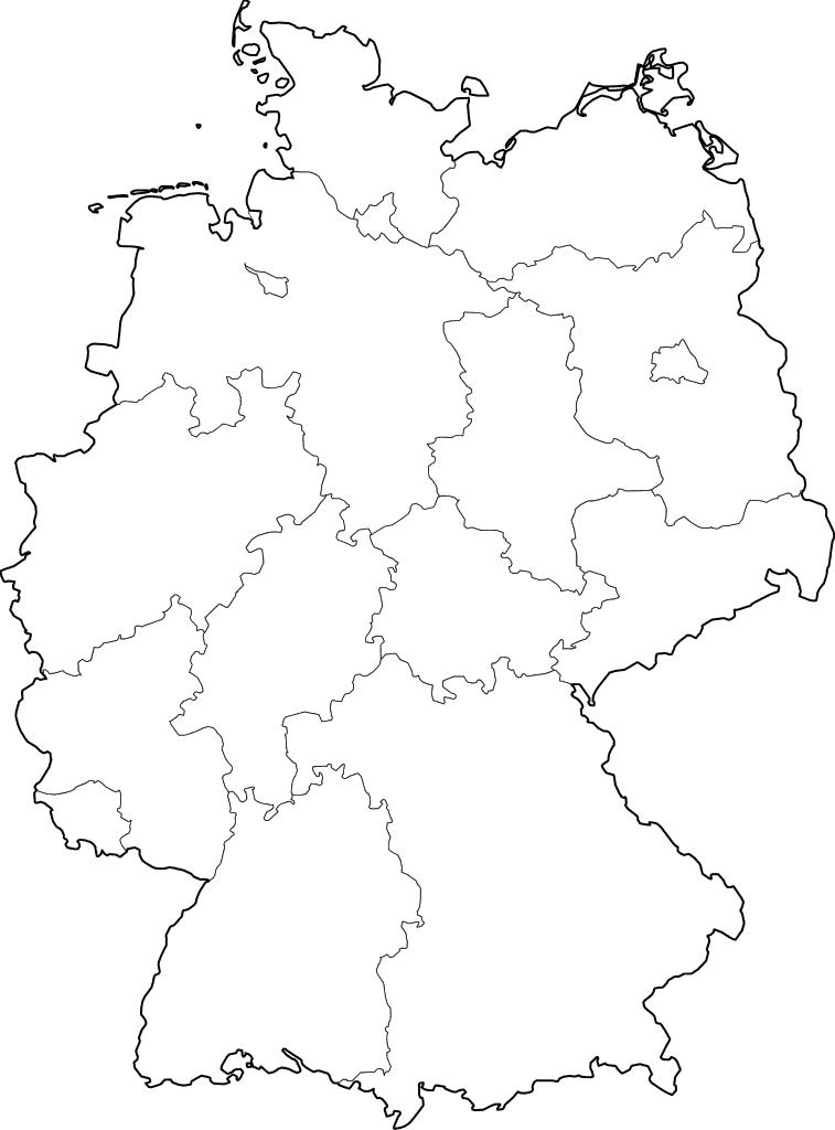 mapa alemania colorear mudo en blanco imprimir