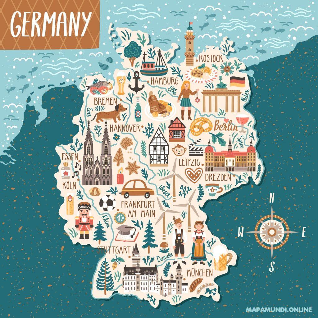mapa alemania niños dibujos