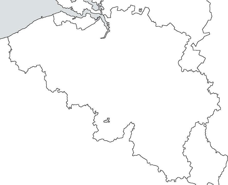 mapa belgica imprimir colorear