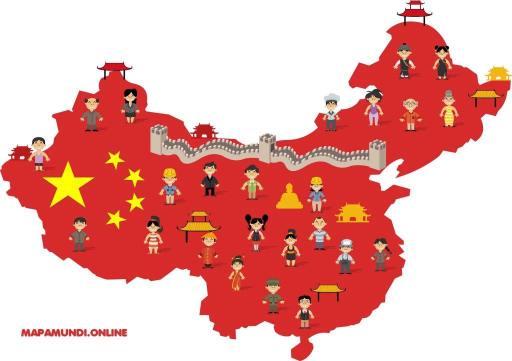 mapa de china para niños