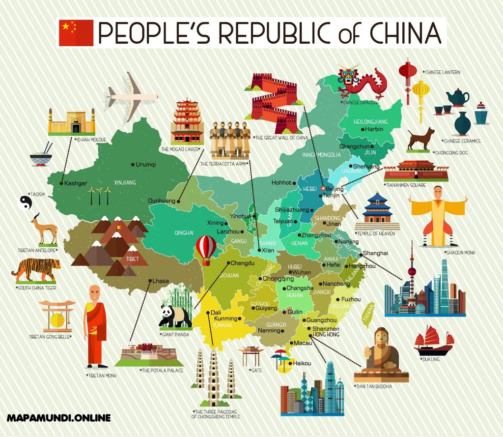 mapa china original divertido