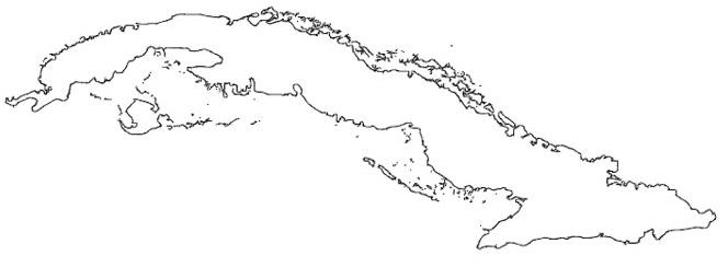 mapa cuba para colorear dibujar