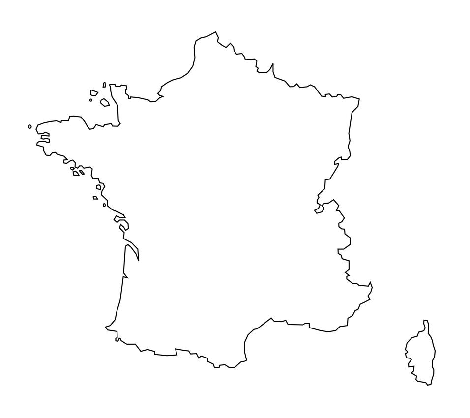 mapa francia blanco imprimir