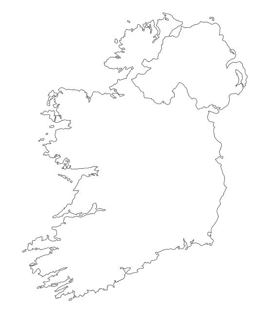 mapa irlanda blanco imprimir colorear
