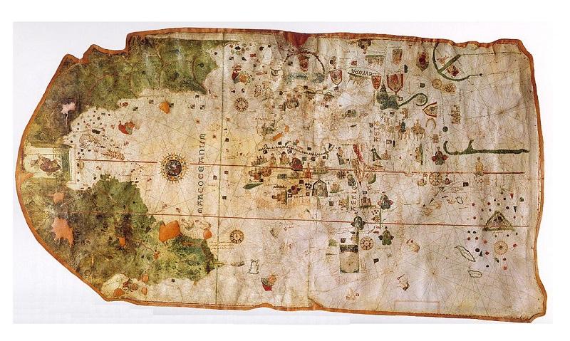 mapa juan de la cosa 1500 antiguo historico