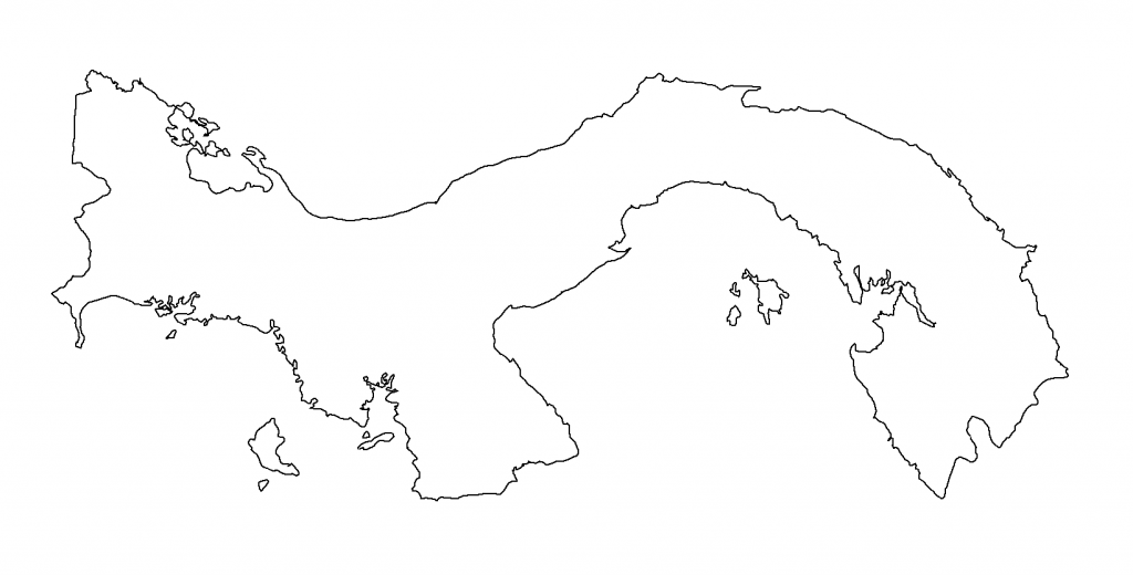 mapa panama blanco colorear dibujar
