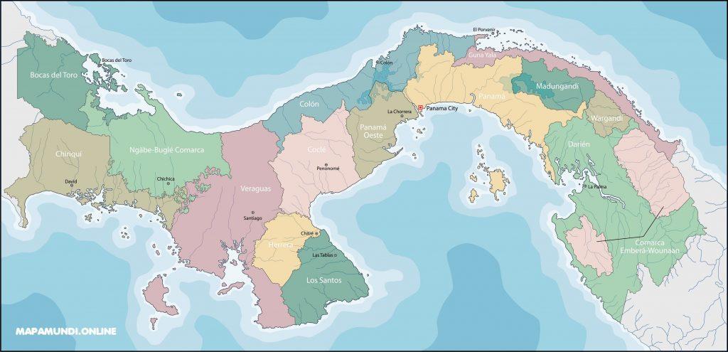 mapa panama politico