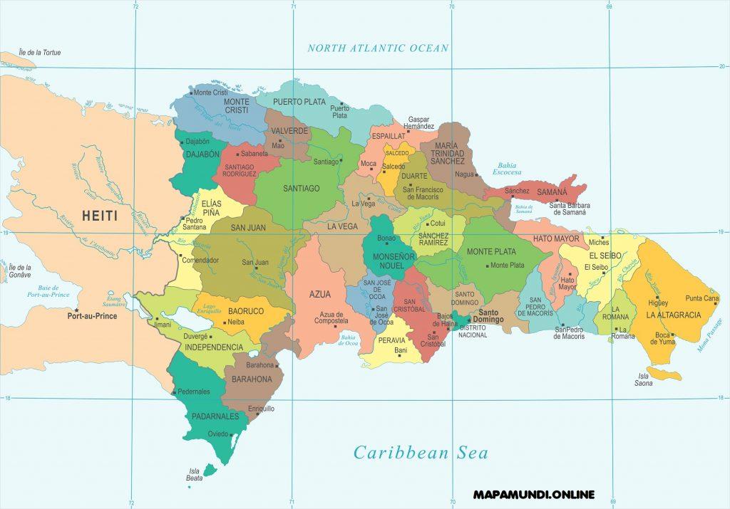 mapa republica dominicana politico