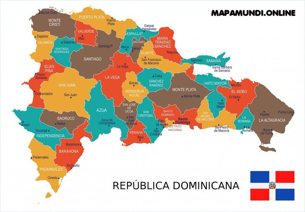 mapa republica dominicana provincias y capitales