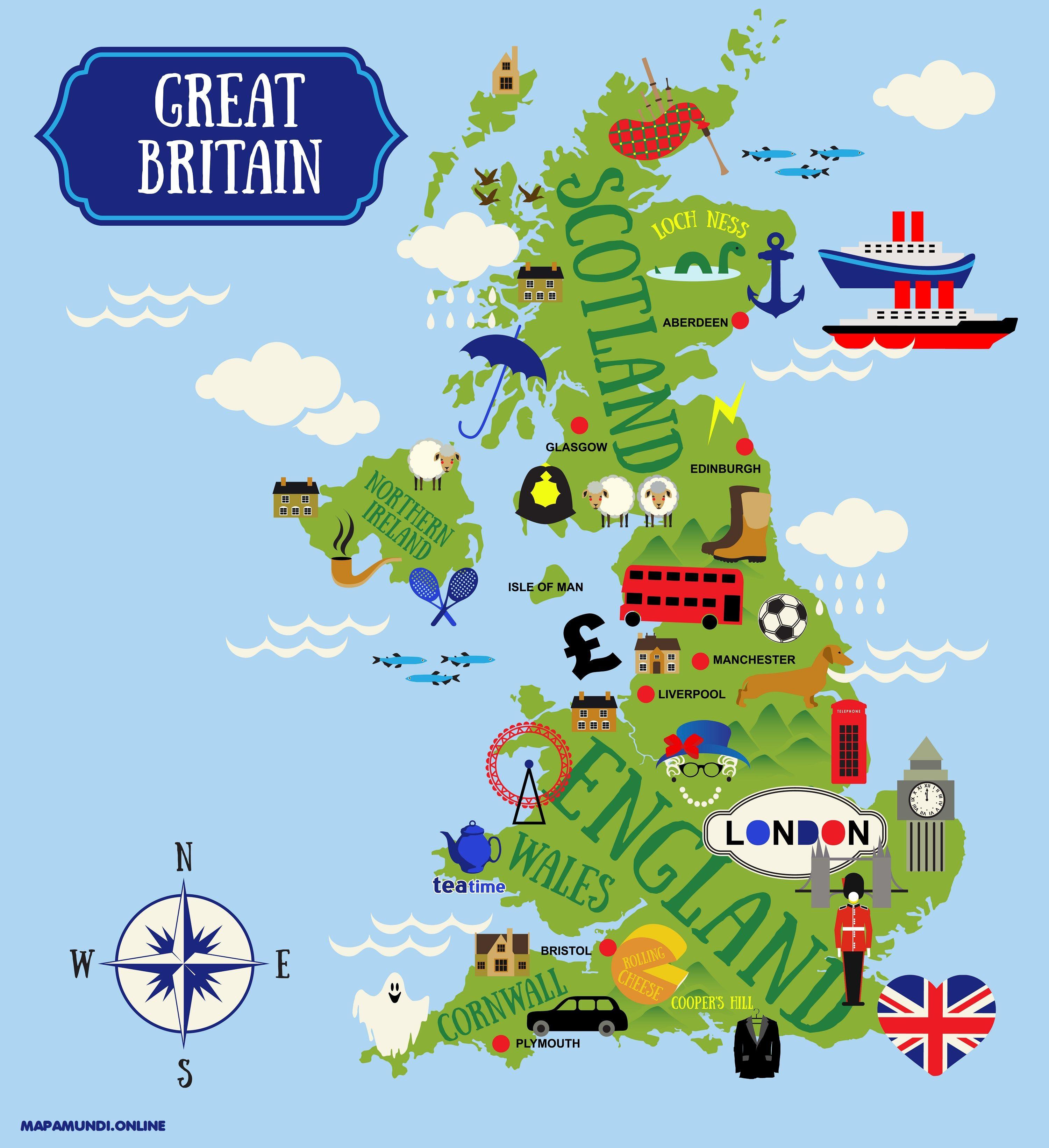 Mapa Politico Reino Unido Para Imprimir.Mapa Del Reino Unido Politico Fisico Imprimir