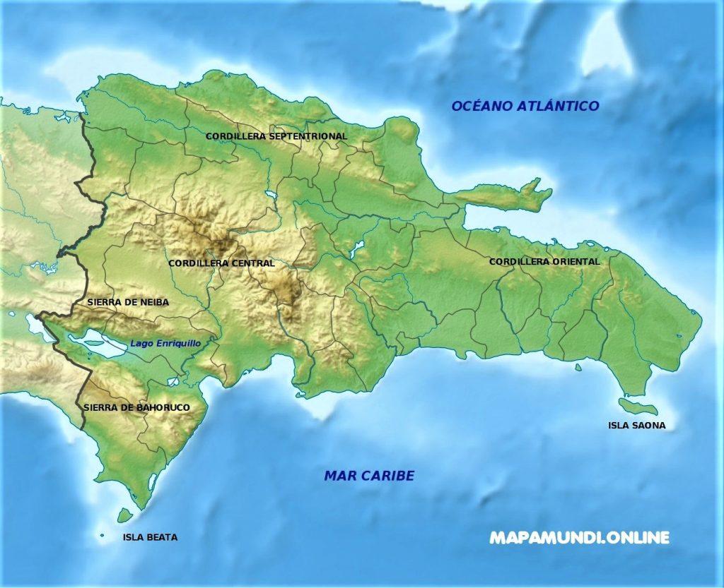mapa republica dominicana fisico español