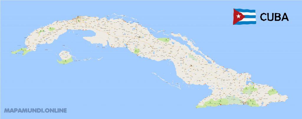 mapa turistico cuba