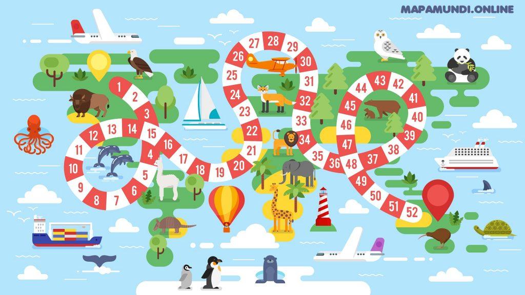 juego mapa niños tablero