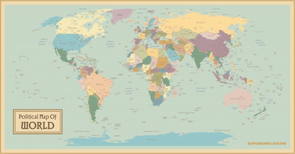 planisferio mundial estilo vintage