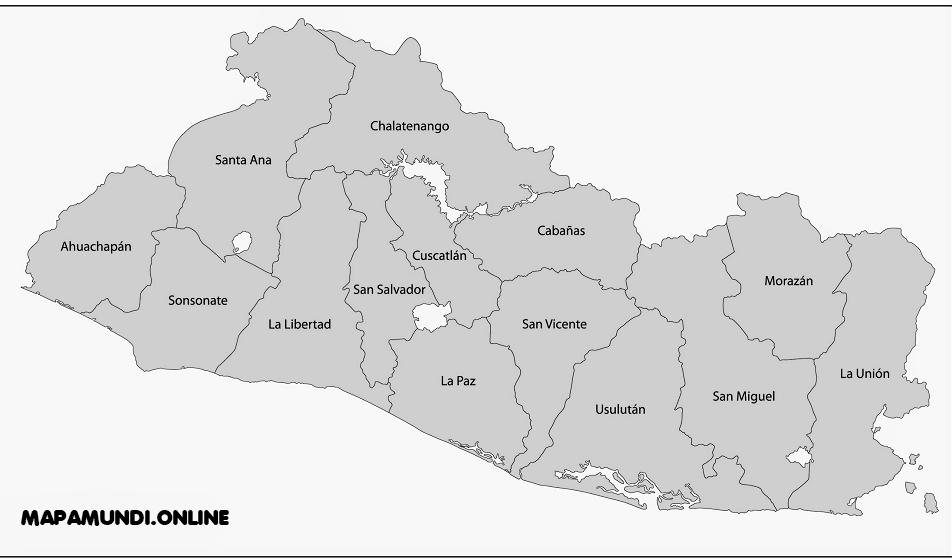 departamentos el salvador mapa