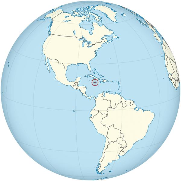 jamaica mapamundi globo terraqueo