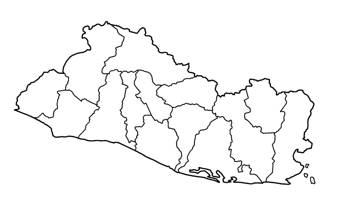 Mapa De El Salvador Político Físico Imprimir Colorear