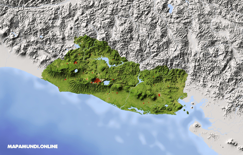 mapa de el salvador  u00b7 ud83e udd47 pol u00edtico  u0026 f u00edsico imprimir