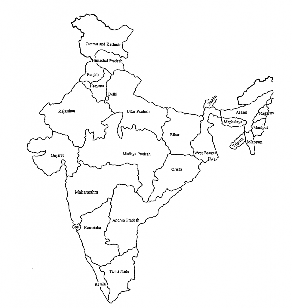 mapa india para colorear dibujar pintar