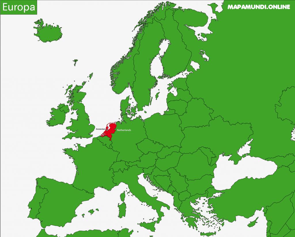 mapa paises bajos europa