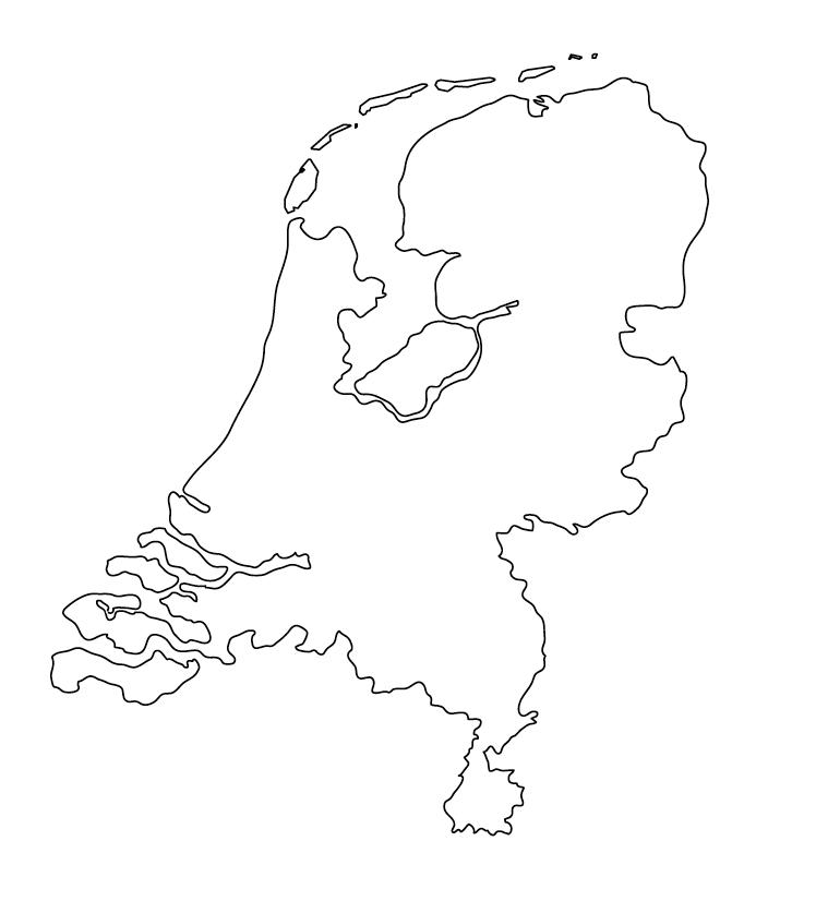 mapa paises bajos para colorear