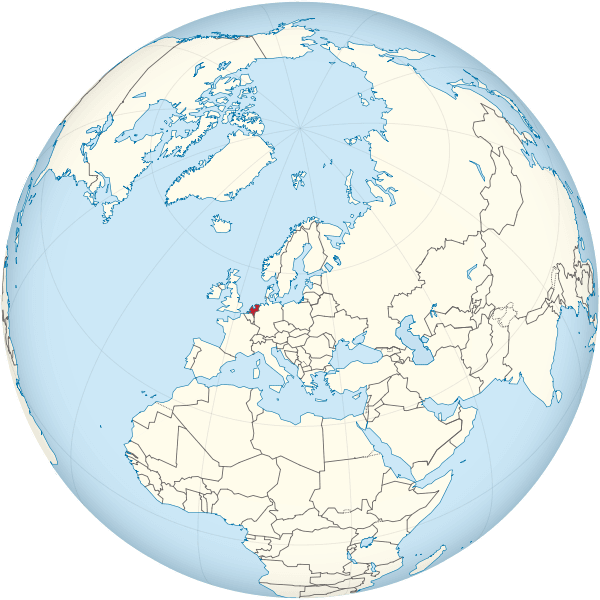 paises bajos mapamundi