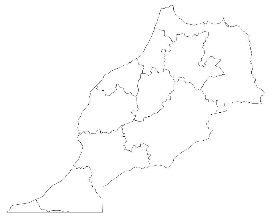 mapa de marruecos para colorear