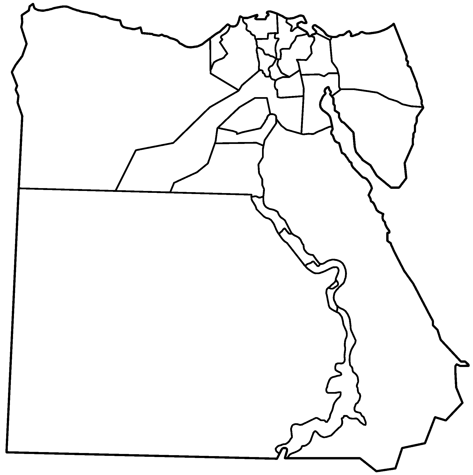 Mapa De Egipto Político Físico Para Imprimir 2019