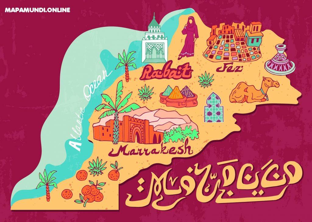 mapa de marruecos para niños