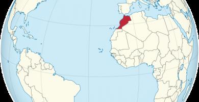 mapa mundi marruecos