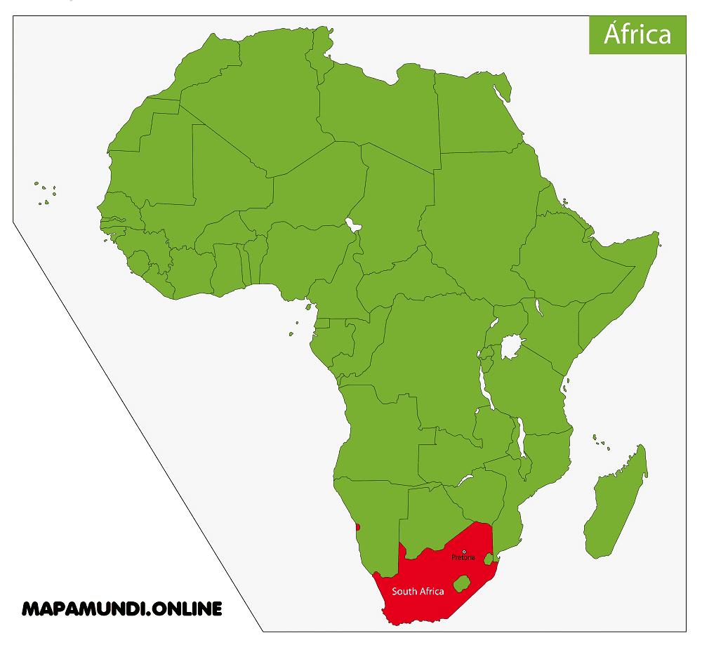 mapa sudafrica africa ubicacion