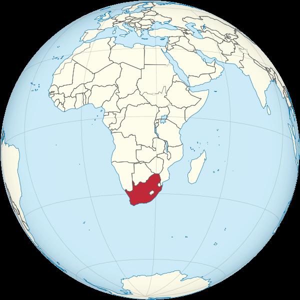 mapa mundi sudafrica