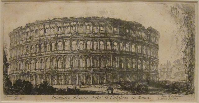 historia coliseo romano dibujo