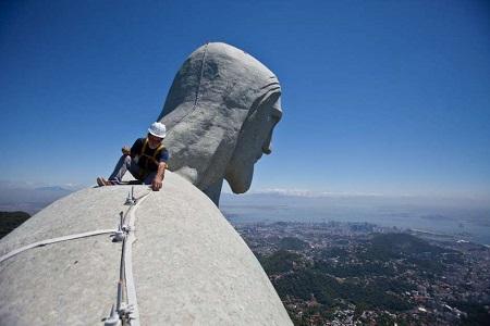 estatua cristo redentor reparaciones