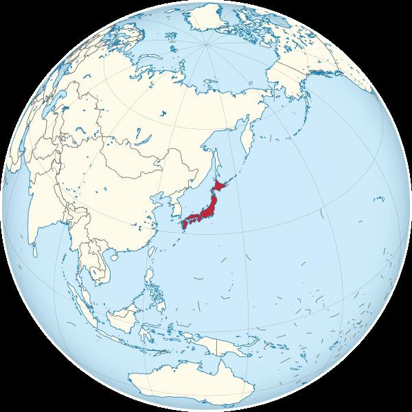japon mapa mundi