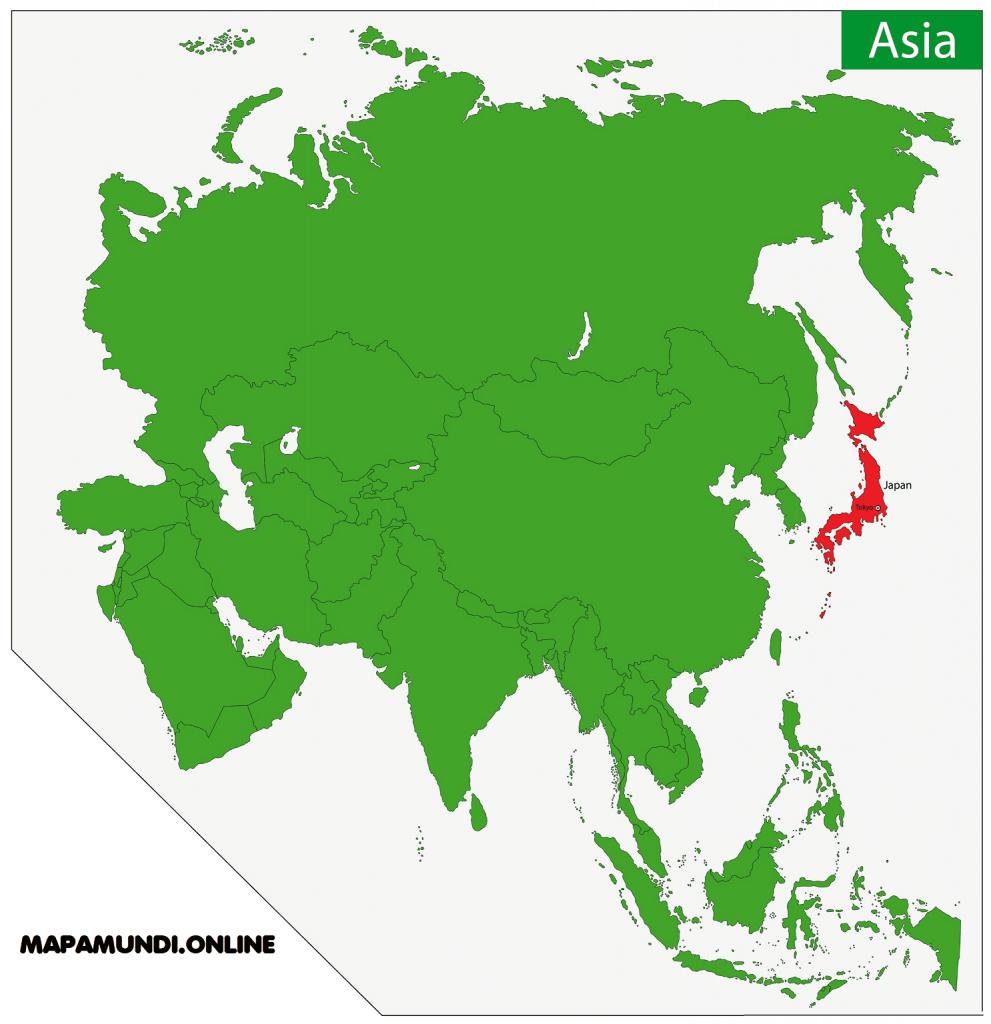 mapa japon asia continente