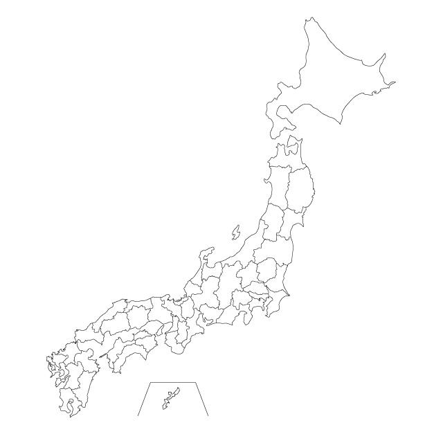 mapa japon para colorear mudo
