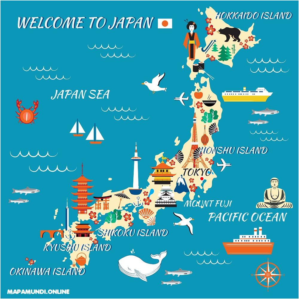 mapa turismo japon