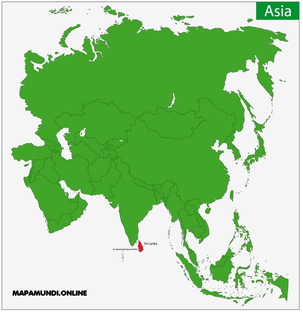 mapa sri lanka asia